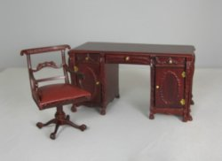Regency Double Desk and Chair