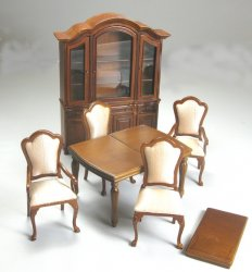 6-Piece Dining Room Set, Walnut - SPECIAL PRICE