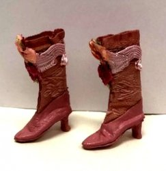 Fancy Victorian Boots, Pink
