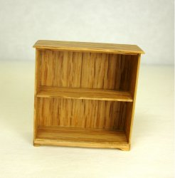 Half Inch Scale Bookcase, Oak