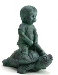 Garden Sculpture, Boy on Turtle