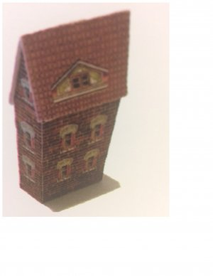 Lithographed Brick Dollhouse Kit