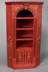 Handpainted Corner Cupboard