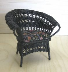 Black Wicker Chair