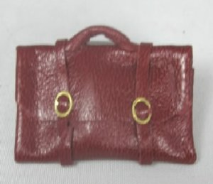 Dark Red Leather Attache Case