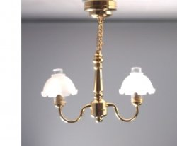 Battery Operated Metropolitan LED Brass Ceiling Light, Frosted