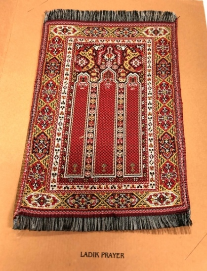 Franklin Mint Ladik Prayer Style Rug - Click Image to Close