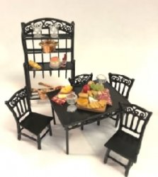 "1/2"" Scale Dining Set with Accessories"