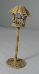 Wicker Bird Cage, Tan