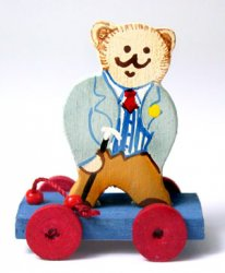 Debonair Bear Pull Toy