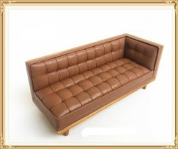 Midcentury Modern Sectional, Leather