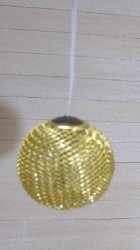 Working Modern Metal Mesh Ceiling Light, Gold/Brass