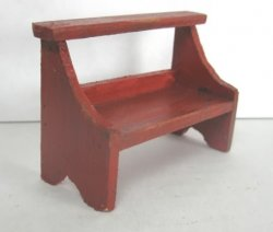 Rustic Bucket Bench, Red