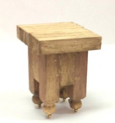Butcher Block on Casters, Handcrafted