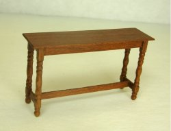 Half Inch Scale Hunt Table, Cherry