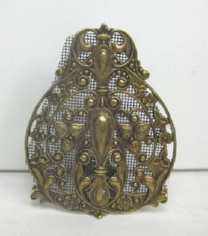 Decorative Fire Screen, Antique Brass Finish