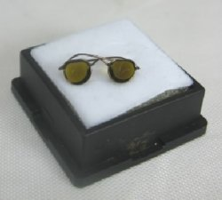 Sunglasses #4, Brown Wire Aviator