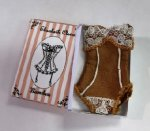 Silk Corset in Box, Brown