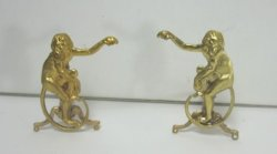 Brass Monkey Andirons