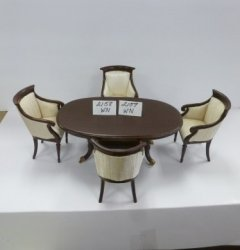 5-Piece Dining Room Set, Mahogany - SPECIAL PRICE