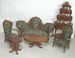 "Bespaq ""Catarina"" Parlor Set, 6-Piece, Walnut"