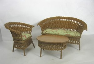 3-Piece Wicker Seating Group