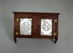 Wall Cabinet with Pierced Tin Doors