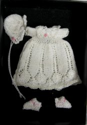 Hand-Knitted Christening Outfit