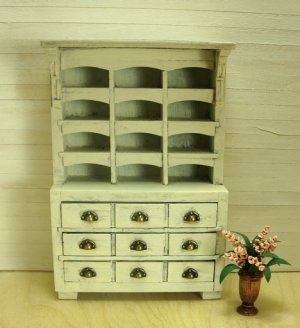 Farmhouse Style Multi-Compartment Hutch