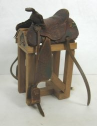 Aged Western Saddle, Brown