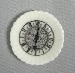 White porcelain plate with Clock Design