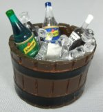 Barrel of Drinks on Ice