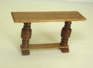 Half Inch Scale Hall or Library Table, Cherry