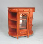 Eugenia Display Cabinet, Walnut Finish