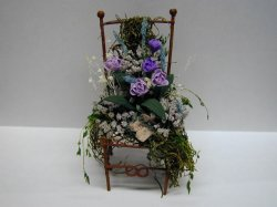 Chair with Floral Arrangement