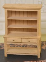 "1/2"" Scale Unfinished Hutch"