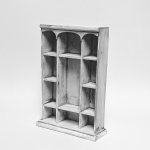 Triple Arch Shelving Unit, Off White