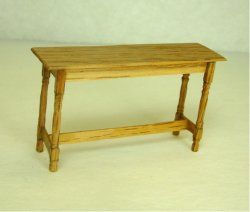 Half Inch Scale Hunt Table, Maple