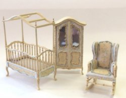 "1/2"" Scale Sweet Home Nursery Set, 3-Piece"
