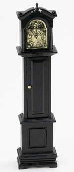 Black Grandfather Clock