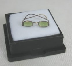 Sunglasses #2, Gold with Green Lenses