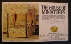 Chippendale Canopy Bed Kit by House of Miniatures