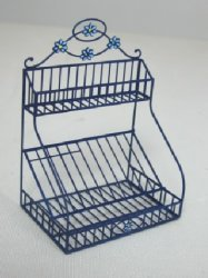 Blue Metal Dish Rack