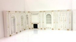 "1/2"" Scale Manor Wall Set, 6-Pc., Hand Painted"