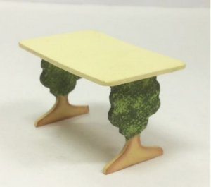 Half-Inch Scale Table with Tree Legs