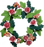 Floral Wreath, Roses