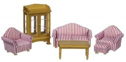 Half Inch Scale Living Room Set, 6 Pc.
