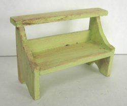Rustic Bucket Bench, Green