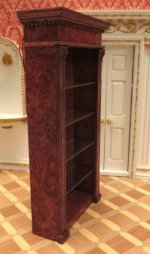 Lighted Burl Bookcase