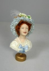 Hat on Porcelain Bust